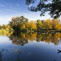 Stowe. Autumn colour over the Eleven Acre Lake (C)National Trust Images 1005120