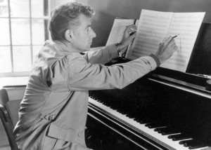 Bernstein at piano